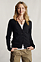 Women's Lightweight V-neck Cardigan from Lands' End :  shirring cardigan gathered shirred