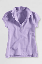 Little Girls' Short Sleeve Vintage Polo Shirt