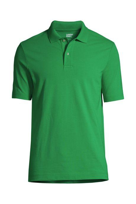 Men's Embroidered Logo Short Sleeve Mesh Polo Shirt