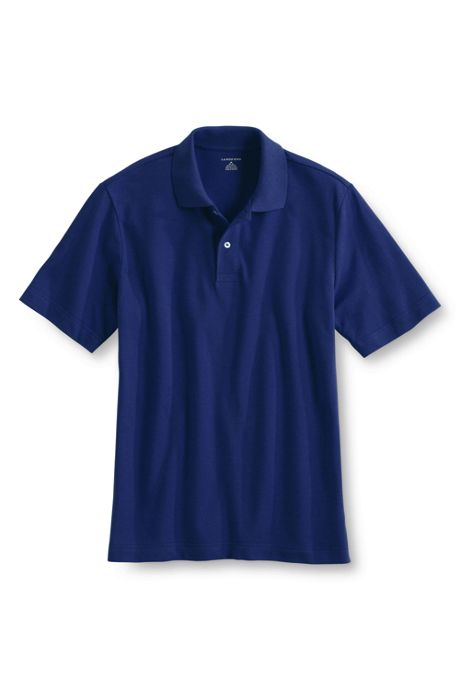 Men's Short Sleeve Basic Mesh Polo Shirt