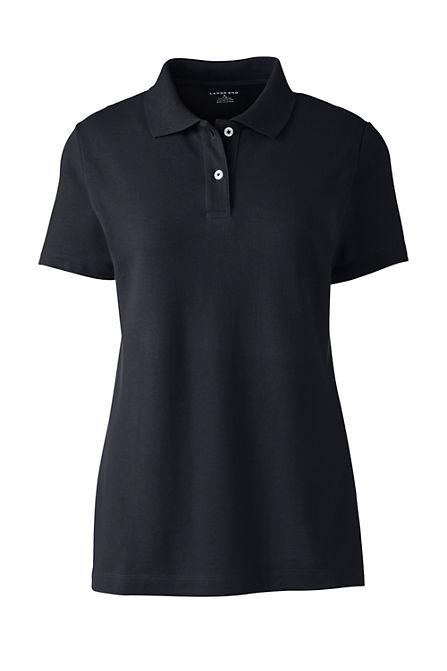 2ff750c1 Women's Short Sleeve Basic Mesh Polo Shirt
