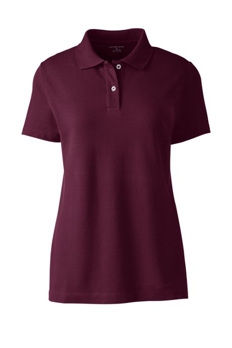 Women's Embroidered Logo Short Sleeve Mesh Polo Shirt