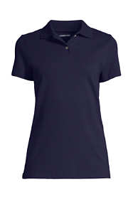 Women's Short Sleeve Basic Mesh Polo Shirt