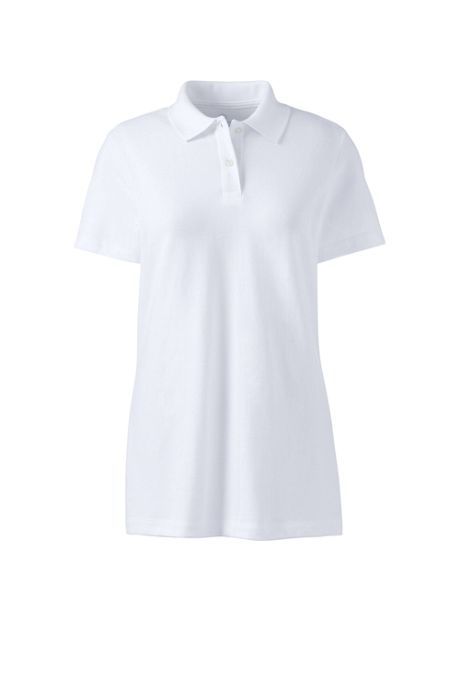 School Uniform Women's Plus Size Short Sleeve Basic Mesh Polo