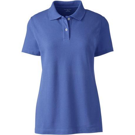 Women's Embroidered Logo Short Sleeve Mesh Polo Shirt