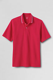 Men's Short Sleeve Tipped Basic Mesh Polo