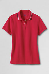 Women's Short Sleeve Tipped Basic Mesh Polo