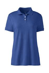 Women's Plus Size Short Sleeve Basic Interlock Polo