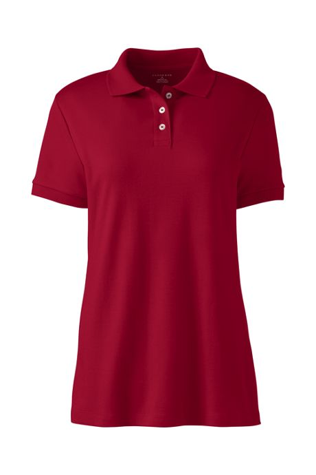 Women's Short Sleeve Basic Interlock Polo