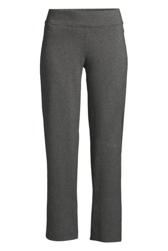 Women's Tall Starfish Mid Rise Elastic Waist Pull On Crop Pants