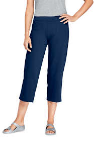 Women's Petite Starfish Elastic Waist Pull On Crop Pants