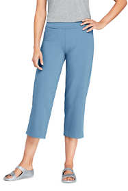 Women's Tall Starfish Elastic Waist Pull On Crop Pants