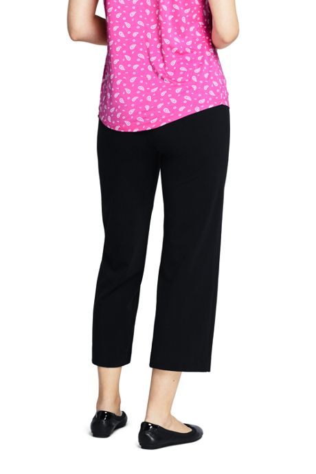 Women's Starfish Elastic Waist Pull On Capri Pants