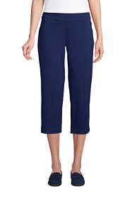Women's Starfish Mid Rise Elastic Waist Pull On Crop Pants