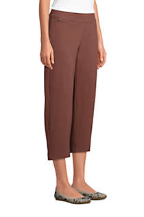 Women's Starfish Mid Rise Elastic Waist Pull On Crop Pants, Unknown