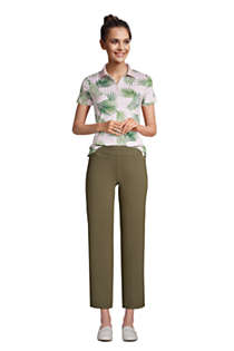Women's Starfish Mid Rise Elastic Waist Pull On Crop Pants, alternative image