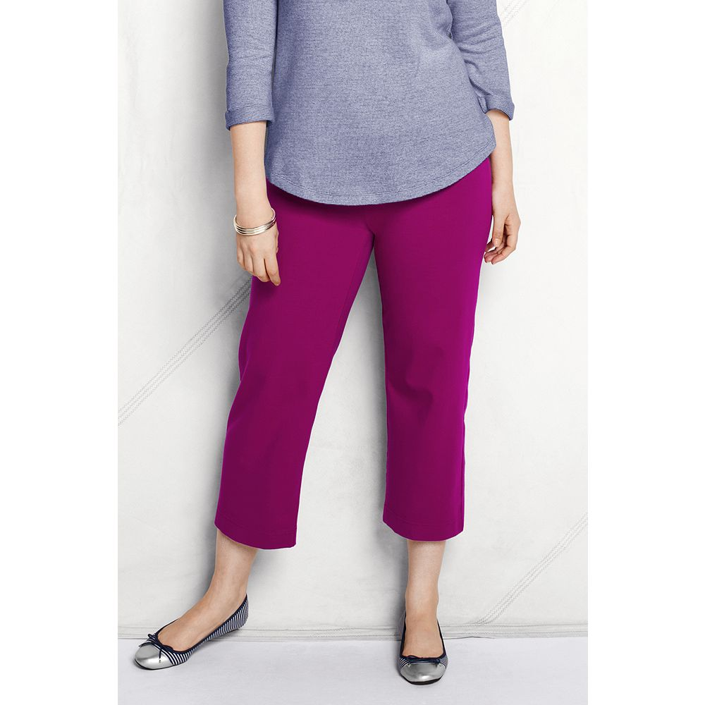 Lands' End Women's Plus Size Starfish Stretch Crop Pants at Sears.com