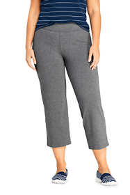 Women's Plus Size Petite Starfish Elastic Waist Pull On Crop Pants