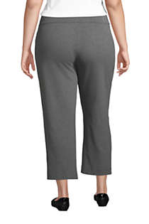 Women's Plus Size Starfish Mid Rise Elastic Waist Pull On Crop Pants, Back
