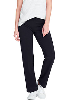 Womens Starfish Jean-style Refined Stretch Jersey Straight-leg Trousers - 10 12 - BLACK Lands End WrfFdjeb