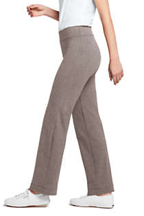 Women's Starfish Mid Rise Straight Leg Elastic Waist Pull On Pants, Right