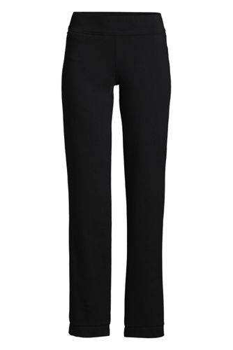 Women's Starfish Mid Rise Straight Leg Elastic Waist Pull On Pants