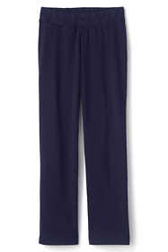 Women's Plus Size Petite Starfish Mid Rise Straight Leg Elastic Waist Pull On Pants