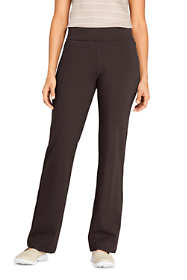 Women's Petite Starfish Mid Rise Straight Leg Elastic Waist Pull On Pants