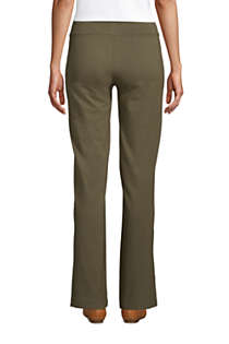 Women's Starfish Mid Rise Straight Leg Elastic Waist Pull On Pants, Back