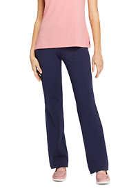 Women's Starfish Straight Leg Elastic Waist Pants Mid Rise