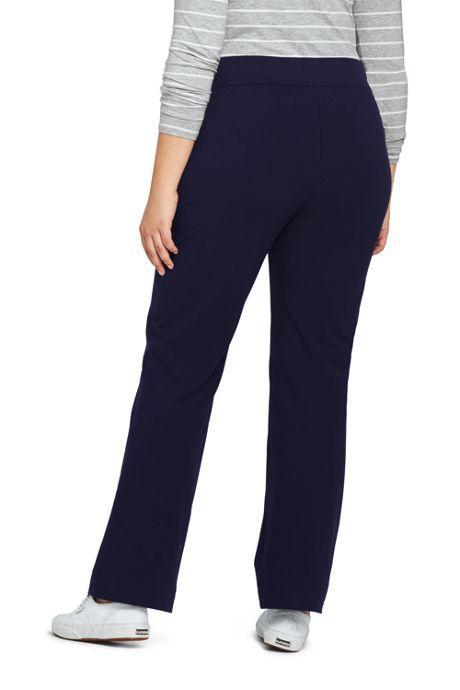 Women's Plus Size Starfish Straight Leg Elastic Waist Pants Mid Rise