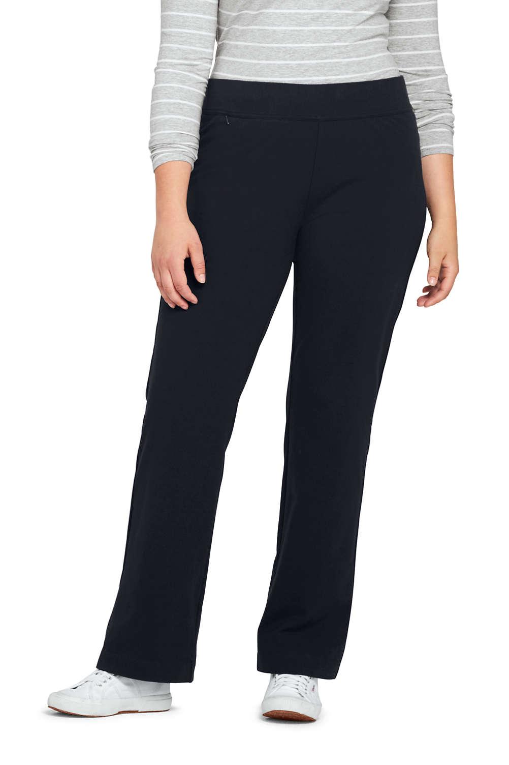 af11709b9d57c School Uniform Women s Plus Size Starfish Straight Leg Elastic Waist Pants  Mid Rise