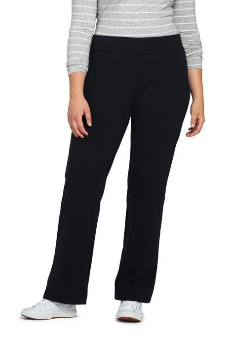 Women's Plus Size Starfish Straight Leg Elastic Waist Pants Mid Rise