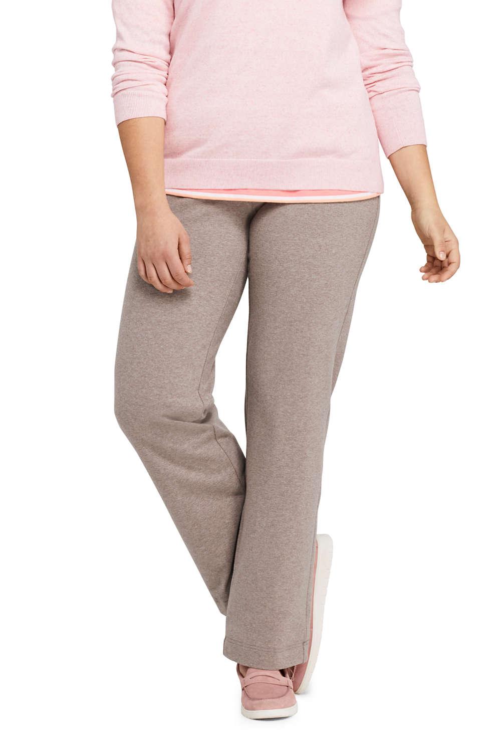 Women\'s Plus Size Starfish Mid Rise Straight Leg Elastic Waist Pull ...