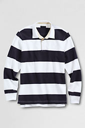 Men's Long Sleeve Stripe Rugby