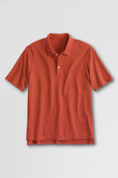 Men's Short Sleeve Textured Horizontal Polo Shirt