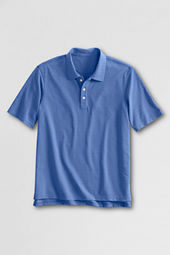 School Uniform Men's Short Sleeve Textured Horizontal Polo