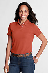 Women's Short Sleeve Textured Horizontal Polo Shirt