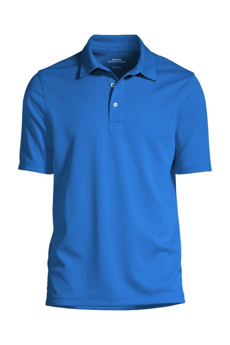 Men's Custom Embroidered Short Sleeve Active Pique Polo Shirt