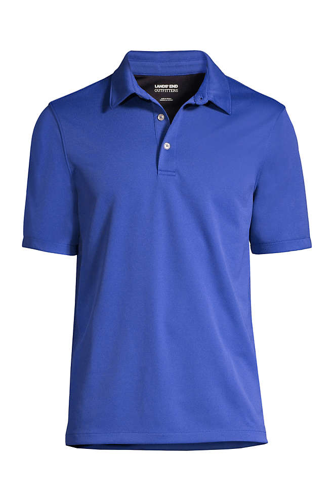 School Uniform Men's Short Sleeve Active Pique Polo , Front