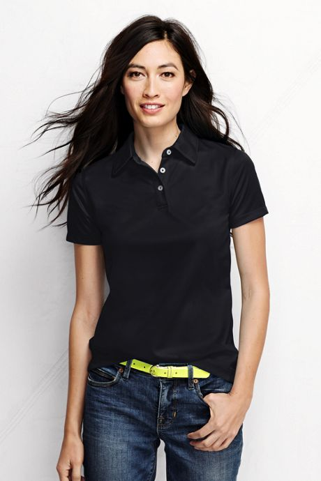 Women's Plus Size Short Sleeve Active Pique Polo Shirt