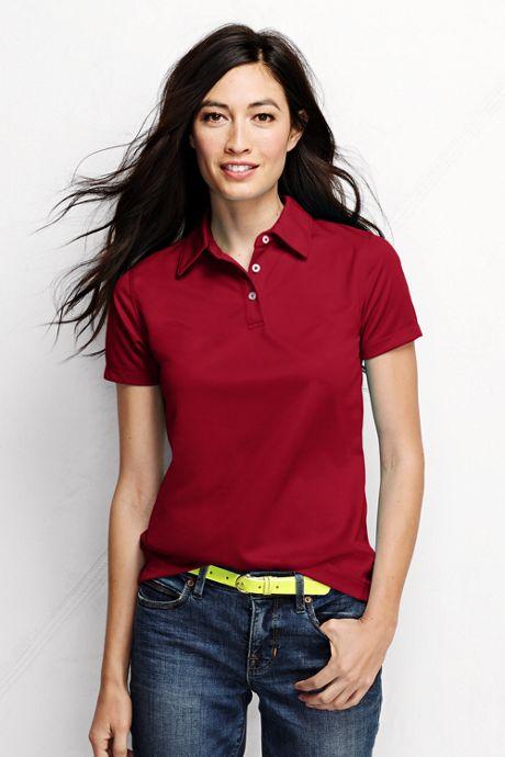 Women's Plus Size Short Sleeve Active Pique Polo Shirt