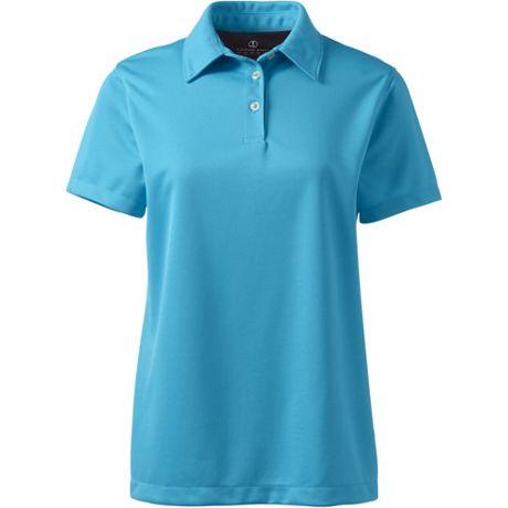 Women's Custom Embroidered Short Sleeve Active Pique Polo Shirt