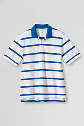 Men's Short Sleeve Stripe Original Mesh Polo Shirt