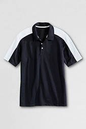 Men's Short Sleeve Colorblock Pique Polo Shirt