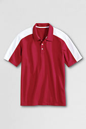 School Uniform Men's Short Sleeve Colorblock Pique Polo