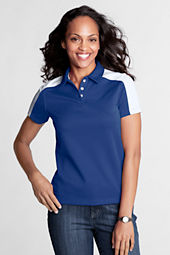 Women's Short Sleeve Colorblock Pique Polo Shirt