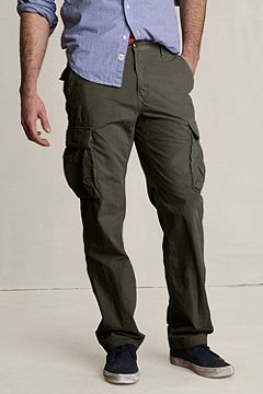 Lands' End Canvas Heritage Cargo Pants: Expedition Green