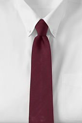 Men's Solid Silk Repp Necktie