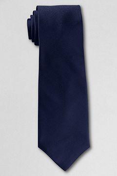 Solid Silk Repp Necktie: Navy